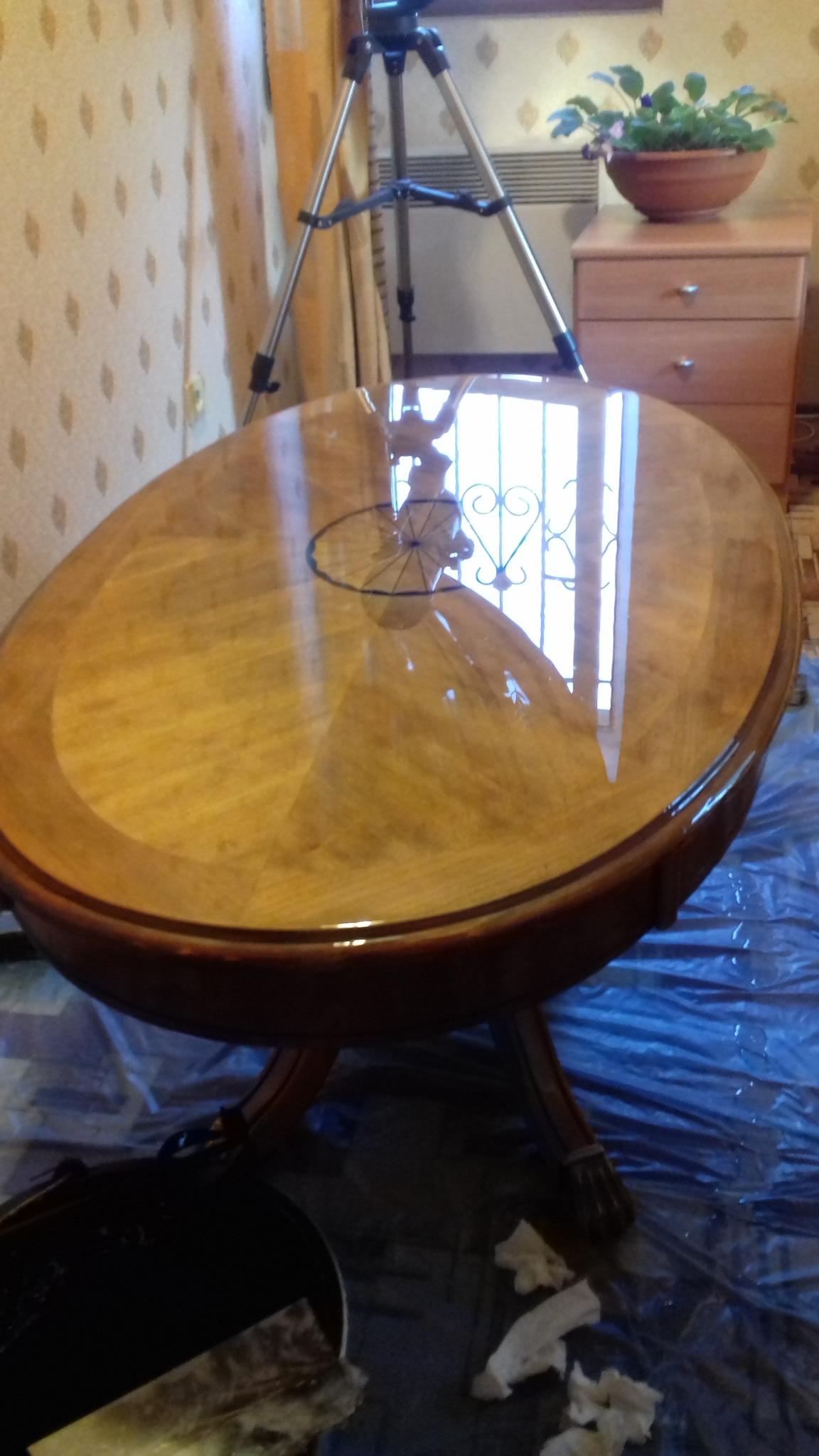 Реставрация стола с узором